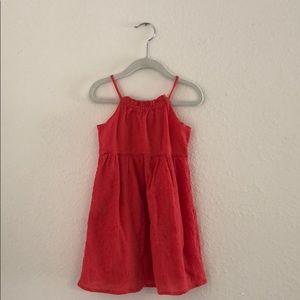 Gap halter dress with eyelet details 3T